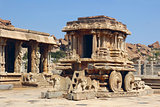 Stone Chariot in in Vittala Temple, Hampi, India