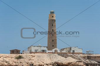 Old lighthouse on an island