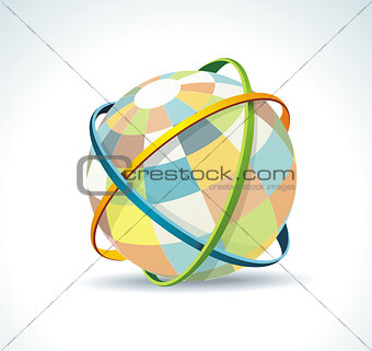 Abstract globe symbol internet and social network concept.