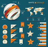 Retro infographics set.