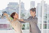 Businesswomen having a massive fight
