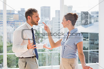 Business team having a heated argument