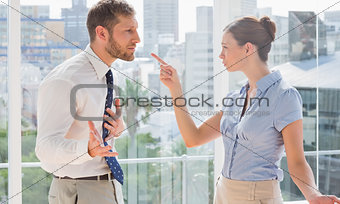 Business partners having a heated argument