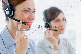 Call centre agents at work