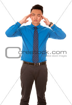 asian business man headache