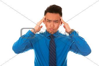 asian business man headache