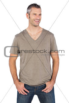 Portrait of casual smiling man
