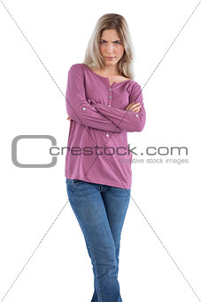 Angry woman with arms crossed