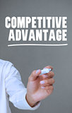 Hand writing competitive advantage with a marker