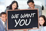 We want you written on blackboard