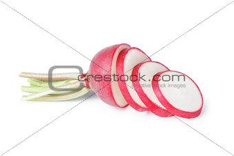 sliced ripe radish