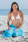 Smiling woman wearing sarong