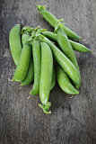heap of fresh pea pods