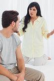Woman reprimanding her boyfriend