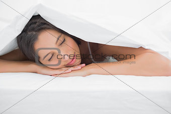 Portrait of an beautiful woman napping