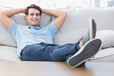 Portrait of a smiling man relaxing