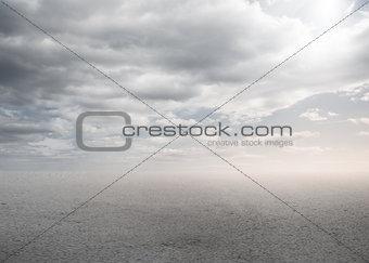 Blank bright desert
