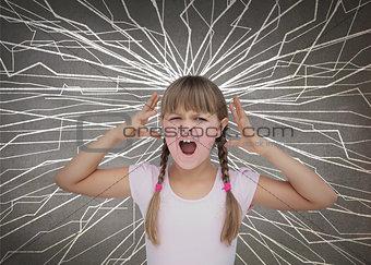 Cute child screaming
