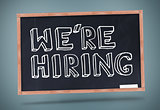 We are hiring written on blackboard