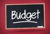 Budget written on a blackboard