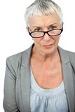 Mature woman wearing glasses
