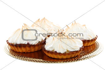 "Cakes ""basket"" with cream."