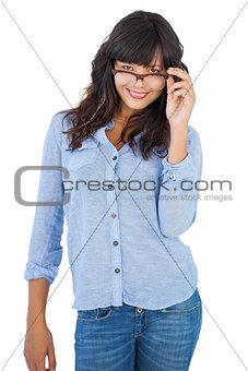 Cute woman wearing glasses