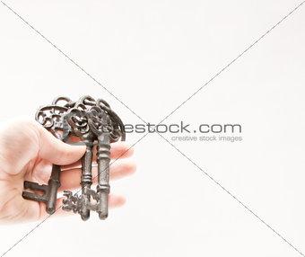 Three old keys