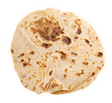 Chapatti roti isolated
