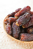 Dried dates fruit.