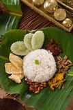 nasi lemak, traditional singapore food