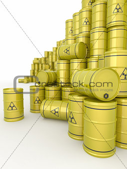 A barrels of radioactive waste.