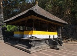 Traditional Balinese pavilion Bale Piasan for offerings in the t