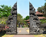 Traditional Balinese gate Candi Bentar in the temple