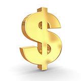 Sign of dollar. 3d