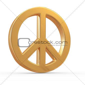 Peace sign. 3d