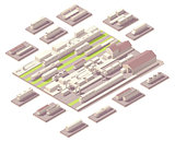 Isometric railroad yard