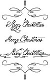 'Merry Christmas' hand lettering
