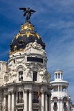 Madrid (Spain) / Famous Statue / Gran Via