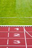 Track lanes, numbers