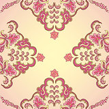 Ornamental round vintage pattern