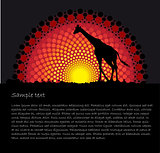 African tribal art vector backgroun