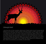 African tribal art vector background