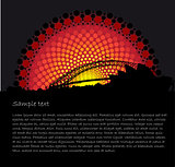 Australia Aboriginal art background