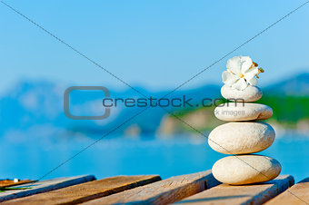 A cairn on the pier