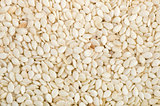 Abstract background of dried sesame seeds