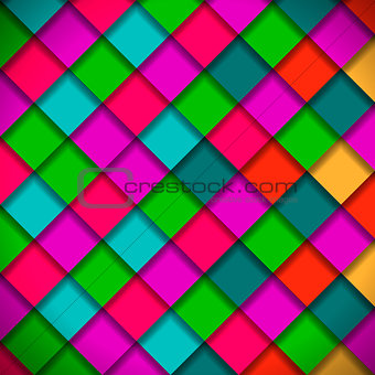 Bright colors mosaic pattern, vector Eps10  illustration.