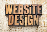 website design in wood type