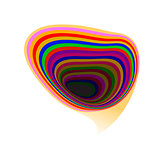 Abstract rainbow speech bubble, vector Eps10 illustration.