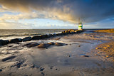 lighthouse in Ijmuiden before sunset